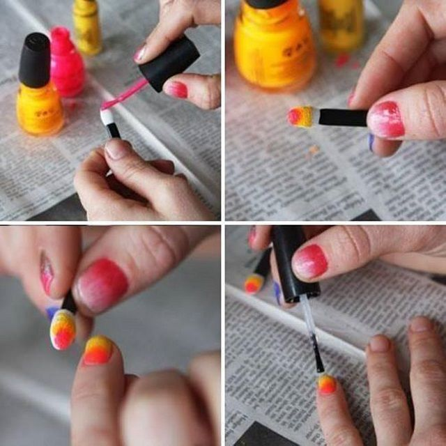 How To Ombre Nails Without Sponge