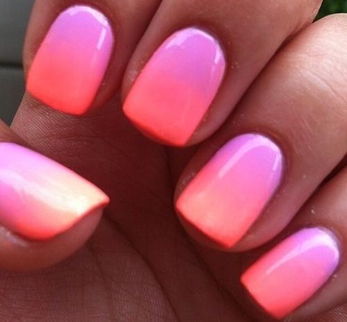 Ombre Short Nails