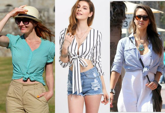 How to Tie a Knot in a Shirt | 5 Cute Ways for Knotted T-shirt Trend