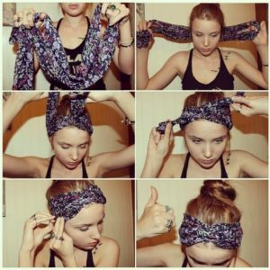 How to Wear Infinity Scarf Headband
